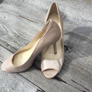 Enzo Angiolini pumps nude with shimmer size 8 EUC